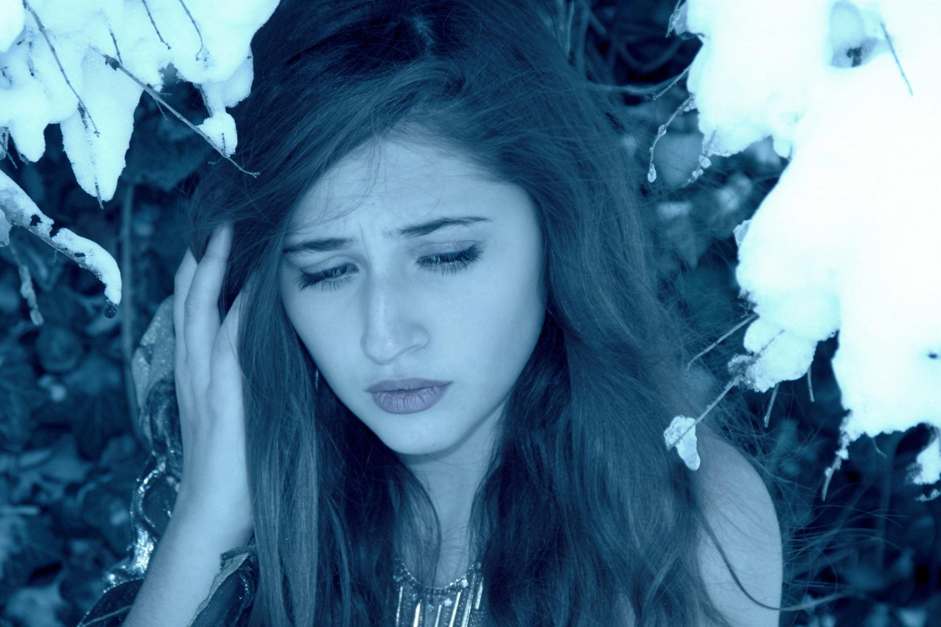 Girl sadness cold winter snow sadness sadness sadness sadness sadness