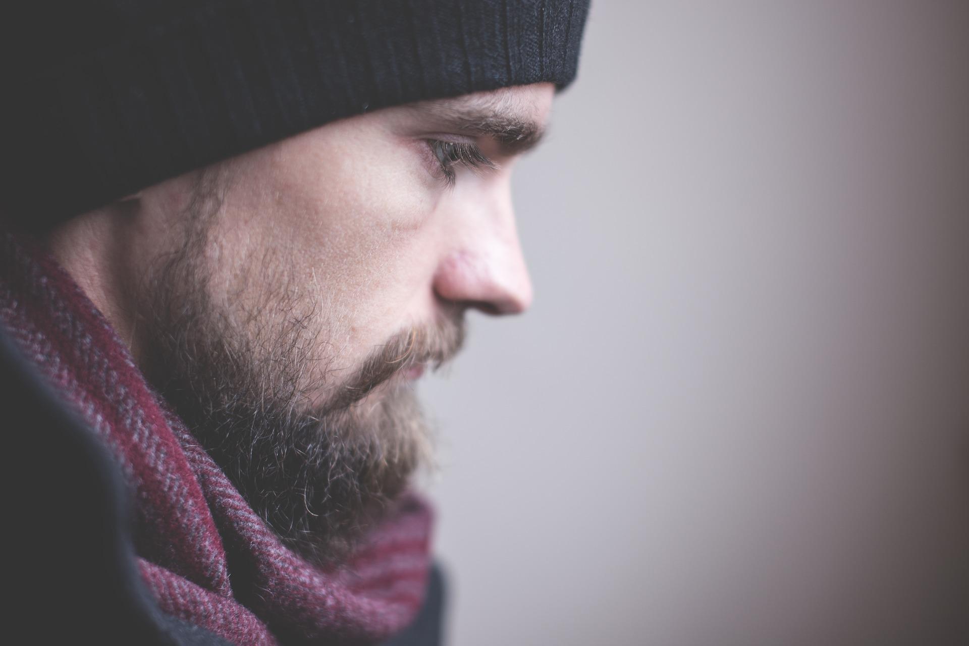 Adult, beard, face