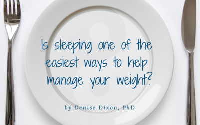 Is sleeping one of the easiest ways to help manage your weight?