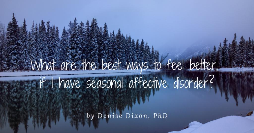 blue lake winter scene seasonal affective disorder