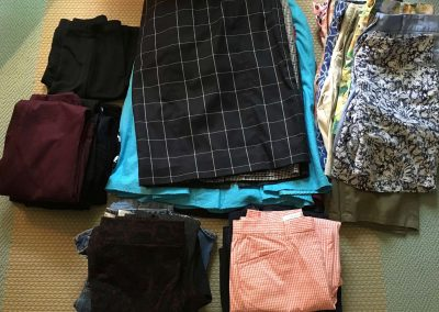konmari clothing category bottoms subcategory before