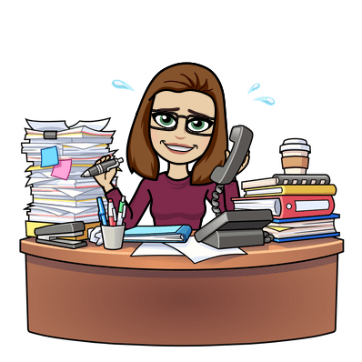 denisedixonphd konmari method desk papers bitmoji