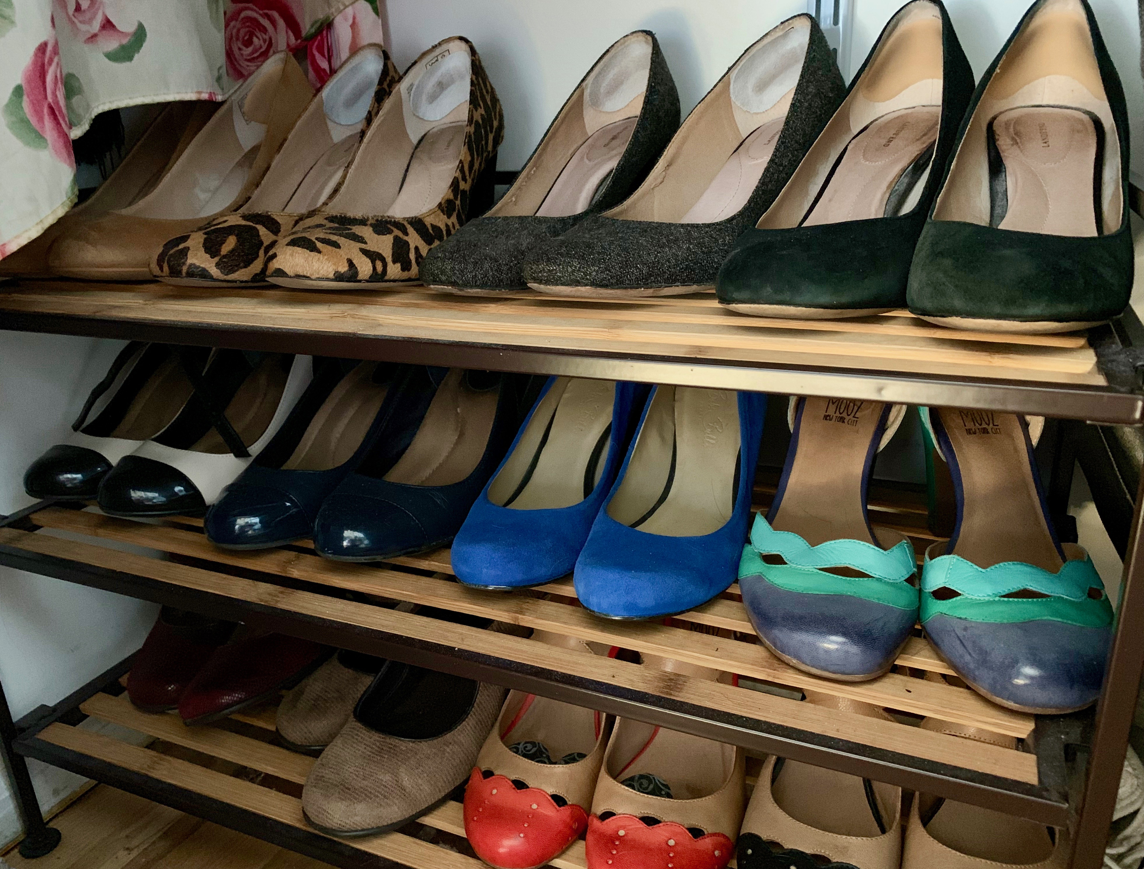 konmari clothing category shoes subcategory in closet