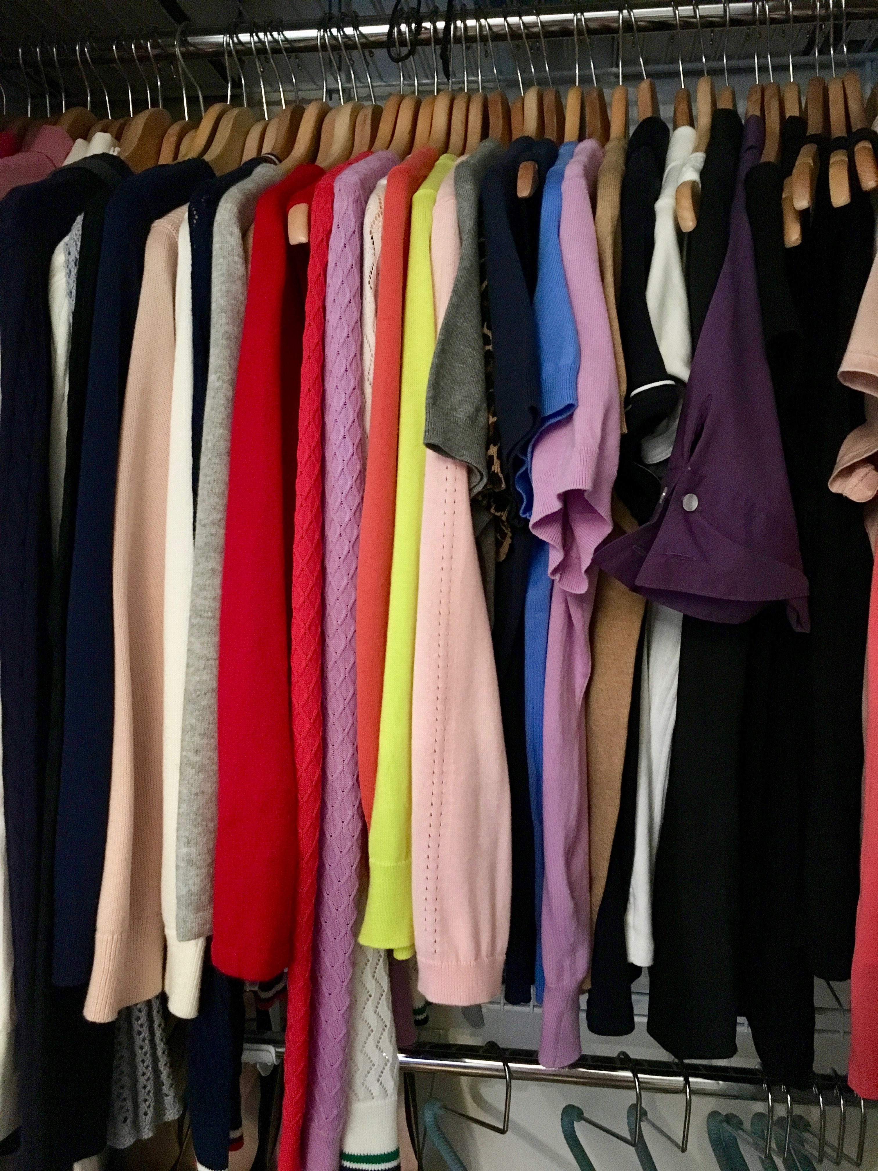 konmari clothing category subcategory tops in closet
