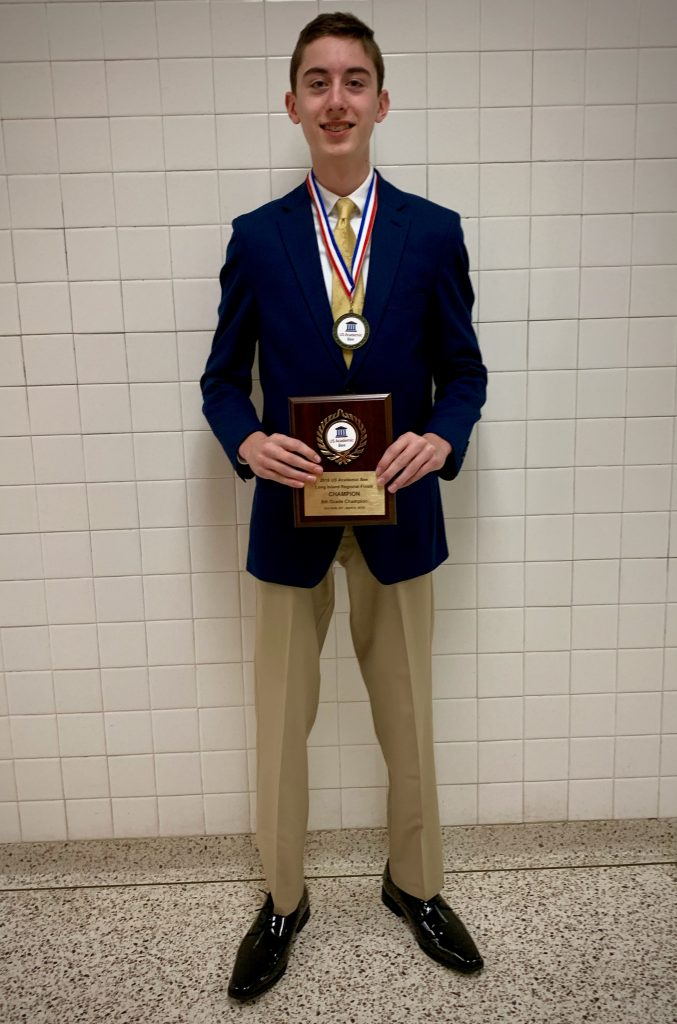 teenager smiling with plaque