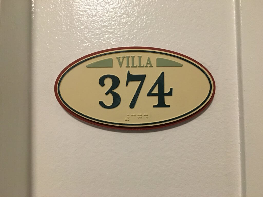 DVC BCV: So much to love about our one bedroom villa at Disney's Beach Club Resort door plaque