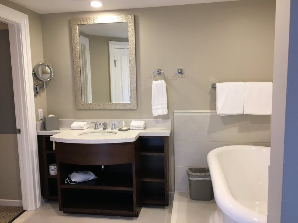 DVC BCV: So much to love about our one bedroom villa at Disney's Beach Club Resort soaking tub and vanity