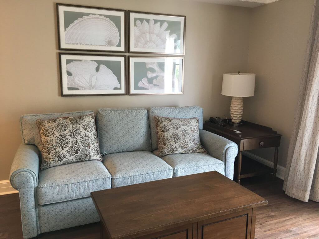 DVC BCV: So much to love about our one bedroom villa at Disney's Beach Club Resort living area