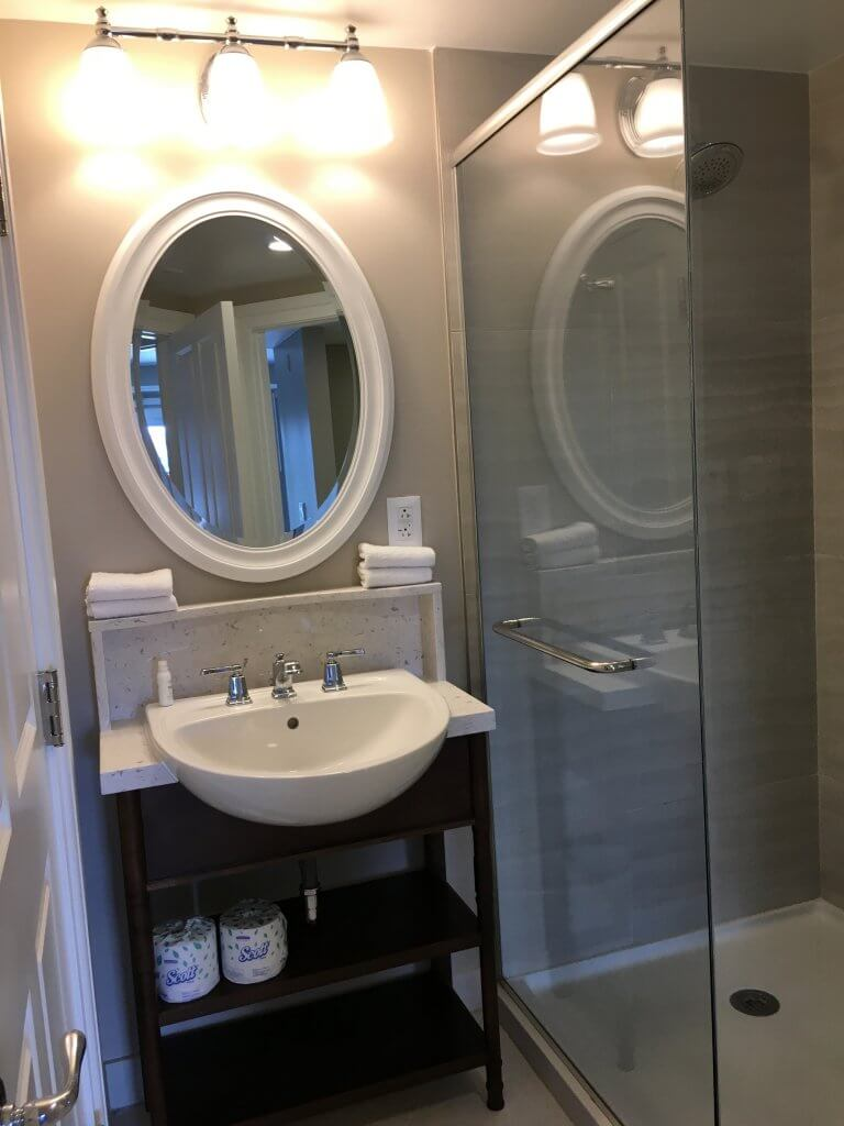 DVC BCV: So much to love about our one bedroom villa at Disney's Beach Club Resort wash basin and shower