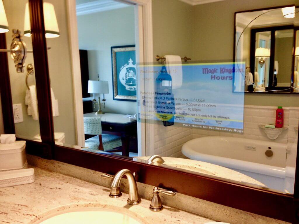 master bathroom mirror television
