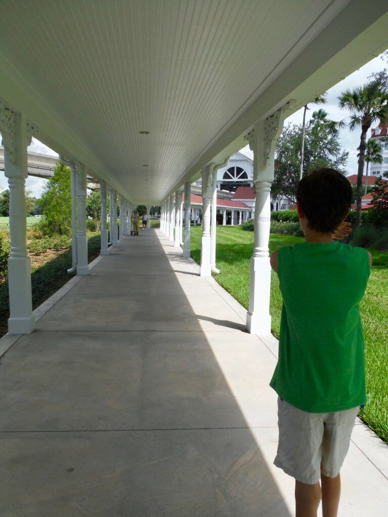 covered exterior walkway