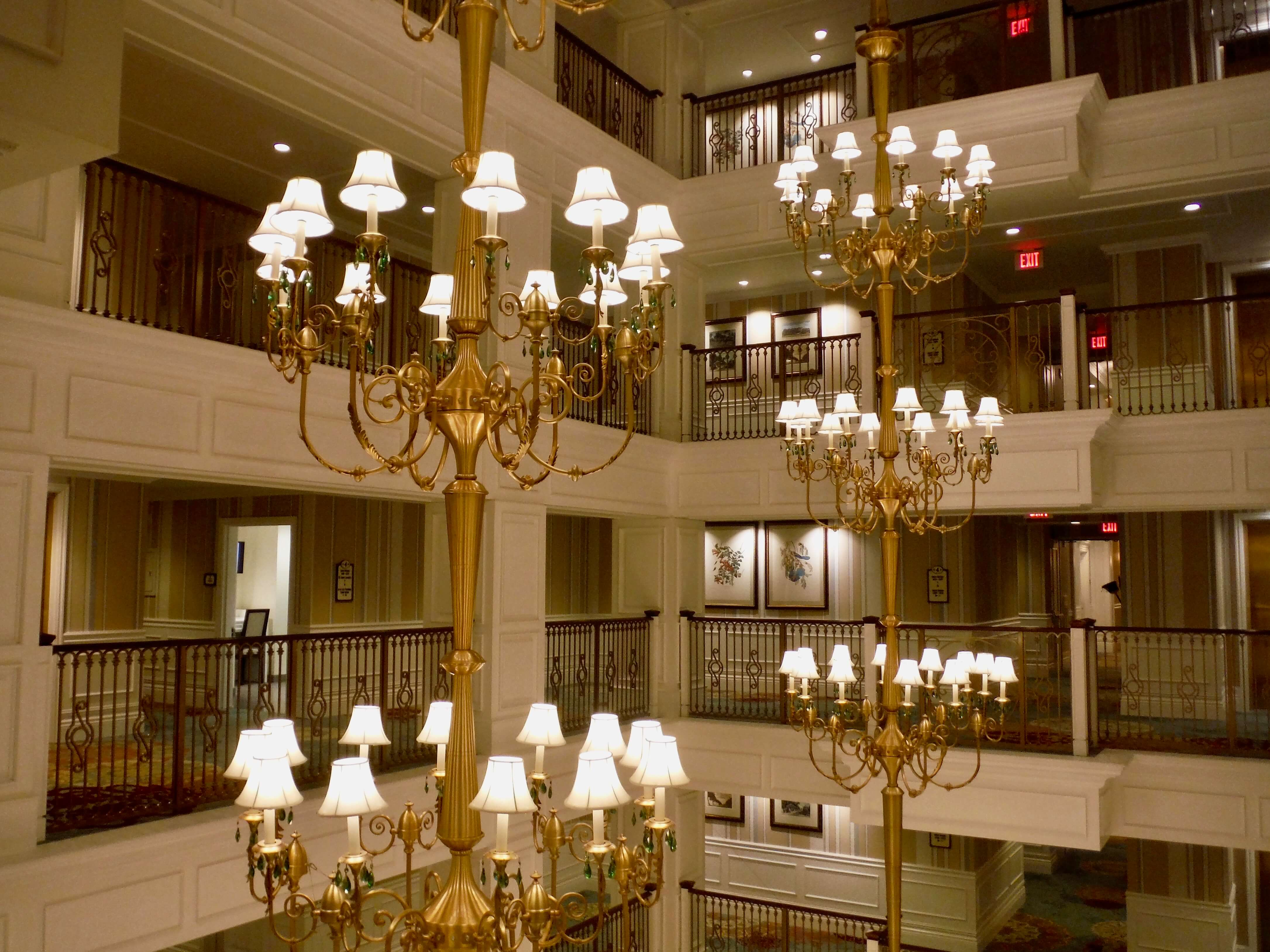 DVC GFV lobby chandelier