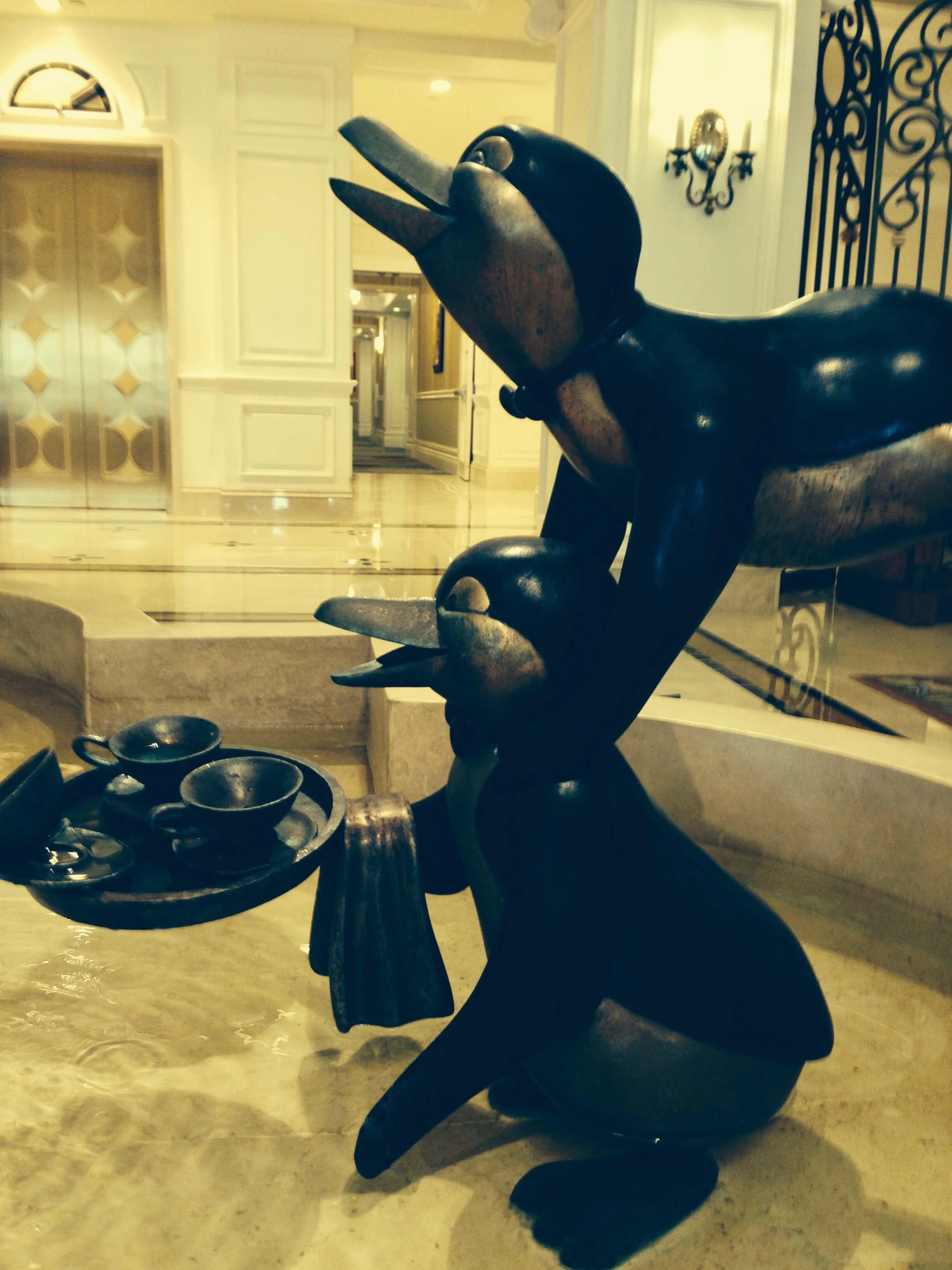 DVC GFV lobby fountain 2penguins