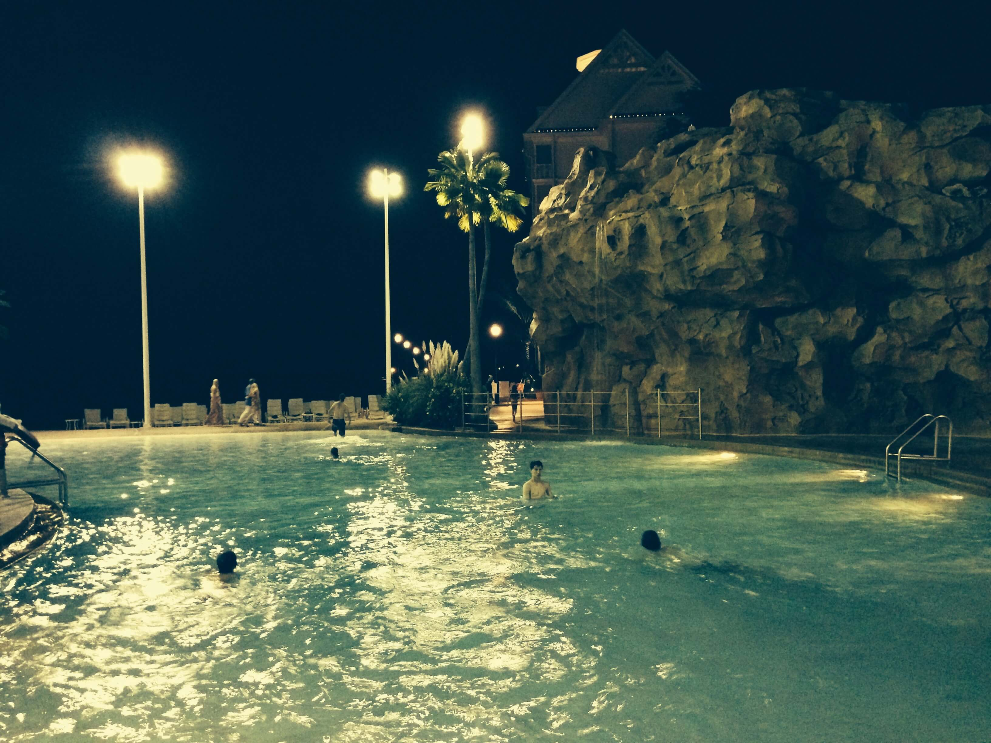 DVC GFV pool night