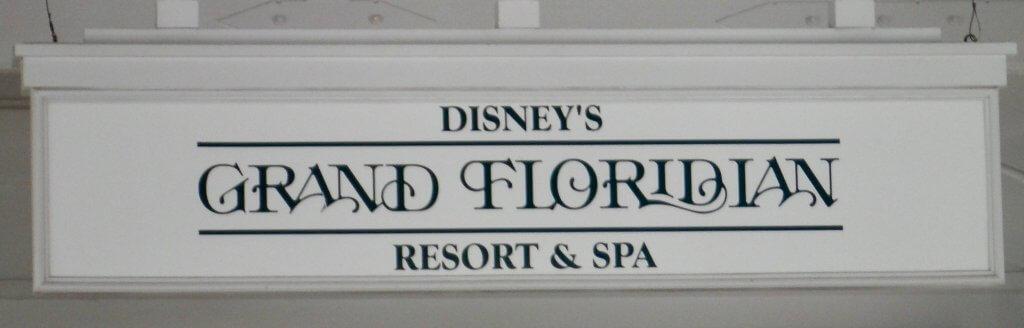 Disney's Grand Floridian sign