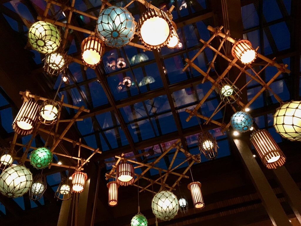 Polynesian great ceremonial house lights