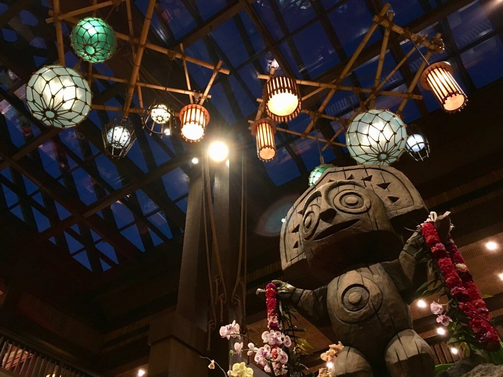 Disney's Polynesian Ceremonial House lights