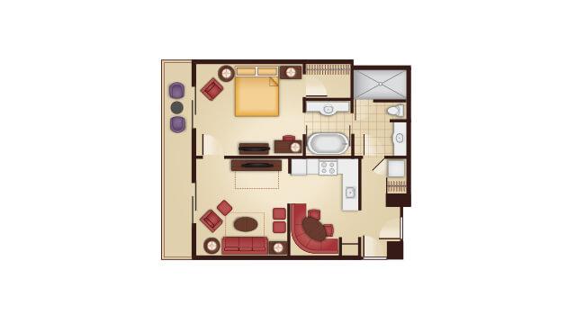 DVC GFV one bedroom villa floor plan