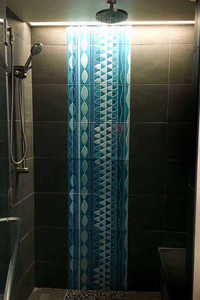 Polynesian studio villa bathroom detail of walk-in shower