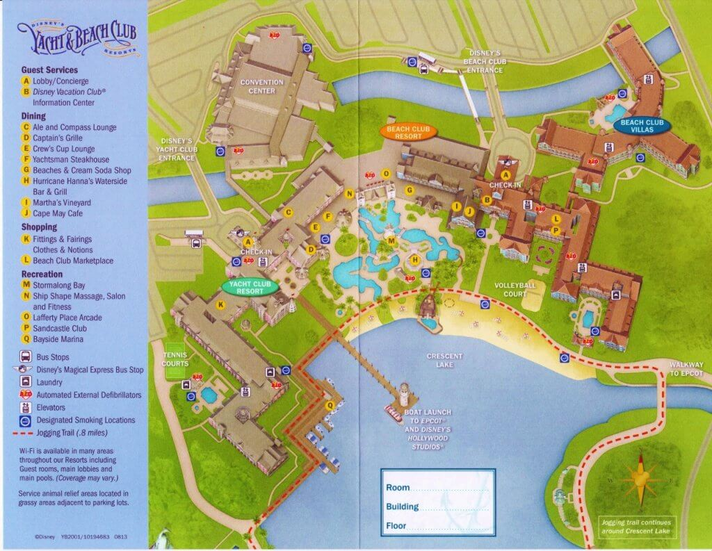 DVC BCV: So much to love about our one bedroom villa at Disney's Beach Club Resort resort map