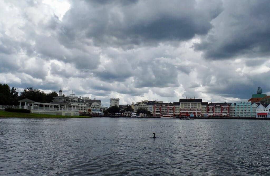 DVC Boardwalk Inn & Villas view from Crescent Lake