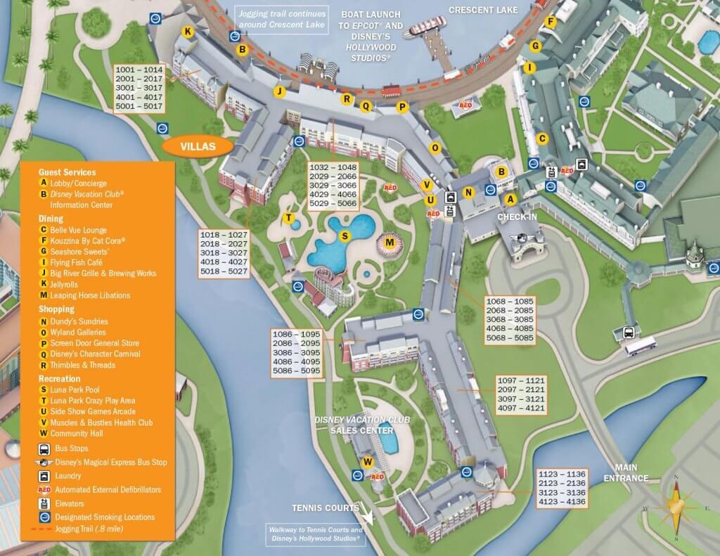 Disney Boardwalk Inn & Villas resort map