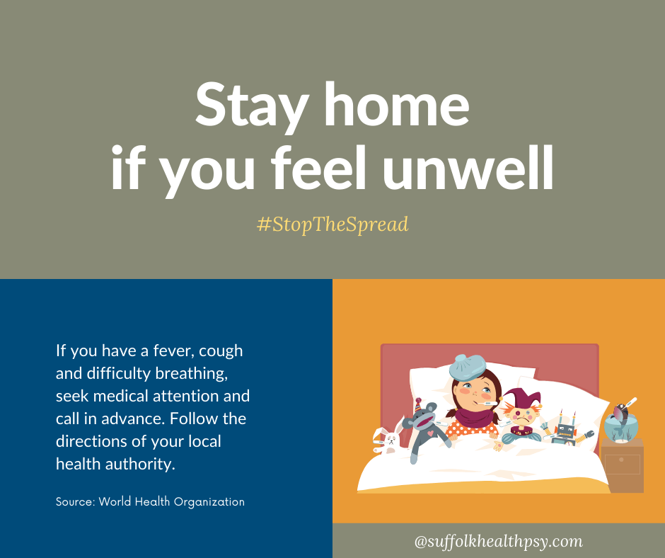 stay protected and protect others: stay home if unwell